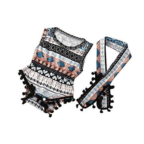 Pour 6 - 24 Mois Bébé Romper,Tonwalk Enfant Filles Floral impression Pyjama (6M, Multicolore)