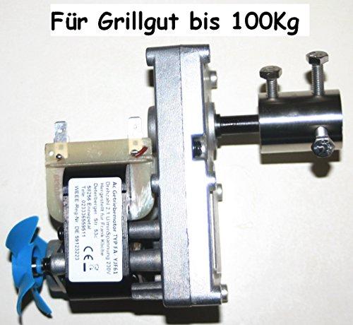 Grillmotor 230V-AC Wechselstr Getriebemotor 2,1 U/min Drehmoment > 30 bis 100 Kg