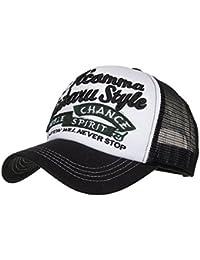 Zarupeng-Joyas Gorras beisbol,Zarupeng Gorra para hombre mujer talla única Casquillo bordado de verano Sombreros de malla para Casuales Sombreros Hip Hop Gorras de béisbol (Negro#1)