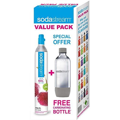 SodaStream Essential Bottiglia di carbonatazione + caricatore di carbonatazione, 80L