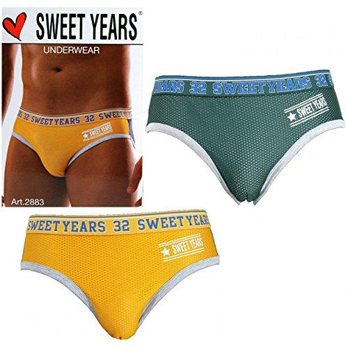 2 X Slip Uomo SWEET YEARS Misure 4/M/48-5/L/5-6/XL/52 cotone elasticizzato 2883