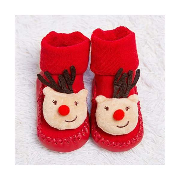 ZOOMY Calcetines navideños para bebés Calcetines Antideslizantes para Interiores para niños y niñas 5