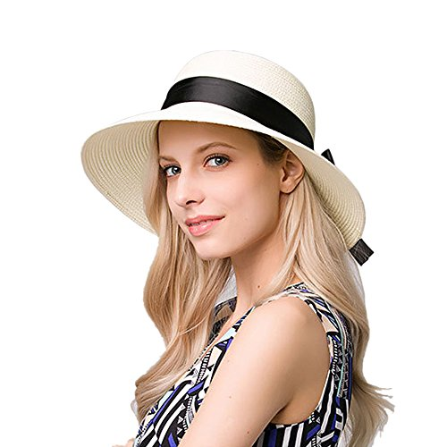 kekolin Fashion Classic Womens Foldable Sun Beach Straw Hats Accessories 733c32231e8d