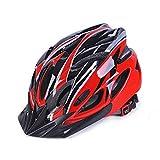 MAXGOODS Casco Bici da Ciclismo per Adulti, Caschi per Mountain Biciclette Flusso d'Aria di qualità Premio, per Uomo Donna, Regolabile Protezione di Sicurezza (Occhiali Antivento Gratis), Rosso