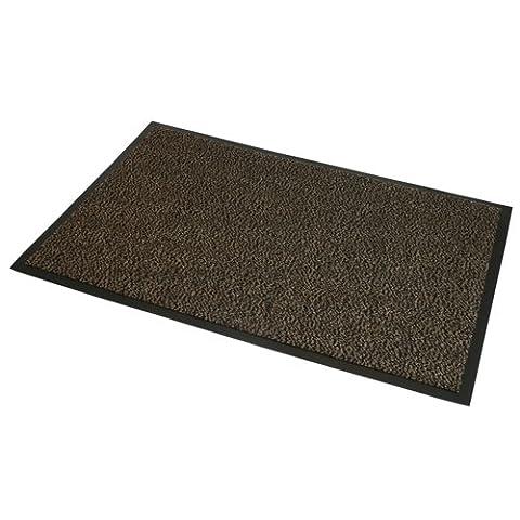 JVL Heavy Duty Barrier Slip Resistant Rubber Backed Door Floor Mat, Vinyl, Brown/Black, 60 x 150 cm,