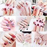 creatspaceDE Künstliche Nägel Fertige Hand-Nagel-Flecken leicht 24 Stück Kleber Art und Weise...