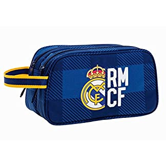 Real Madrid–Neceser doble grande (26cm) azul Kings Real Madrid