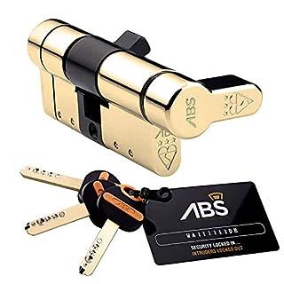 45 (INT) X 45 (EXT) 45/45 Brass Avocet ABS Quantum Thumb Turn Euro Cylinder Door Lock Barrel Anti Snap High Security 3 Star TS007