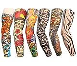 Autek Lot 6 Pcs temporaire Faux Glissement tatouage manches bras Kit Collection - Colletion J -...