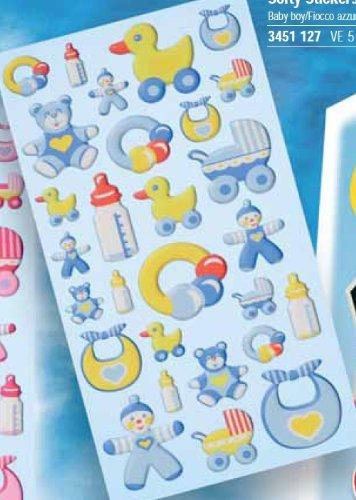Creapop Sticker Softysticker * Baby Boy - Taufe - Geburt * Aufkleber 3451127