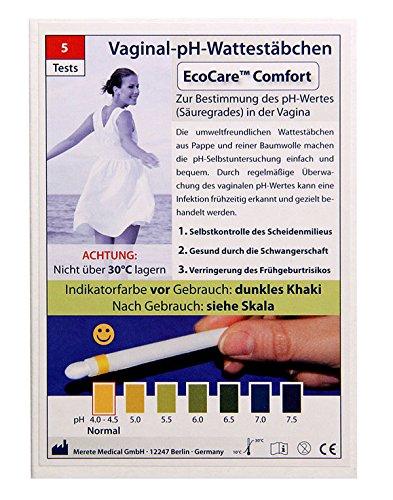 5 Stück Vaginal pH Wattestäbchen Ecocare Comfort (Vaginale Infektionen Bakterielle)