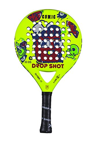 DROP SHOT Comic Pala Pádel, Unisex niños, Amarillo, 320-350 g