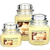 from Village Candle Village Candle Small Fragranced Candle Jar - 11 x 10 cm, 11 oz/701 g, Lemon Pound Cake - upto 55 hours burn time Model 106011388