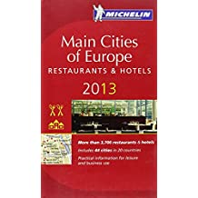 Michelin Red Guide Main Cities of Europe Resturants & Hotels 2013