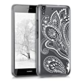 kwmobile Huawei Y6 (2015) Hülle - Handyhülle für Huawei Y6 (2015) - Handy Case in Paisley Blume Design Weiß Transparent