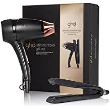 Set de viaje de ghd Platinum: plancha profesional y secador de pelo (111016).