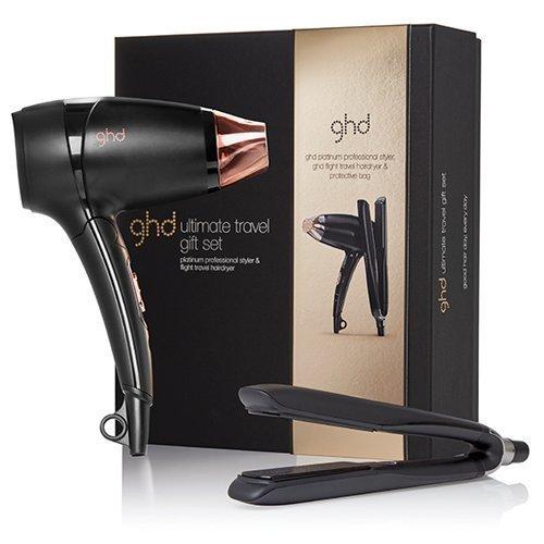 Set de viaje de ghd Platinum: plancha profesional y secador de pelo (1