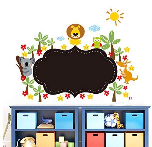 Lvabc Dschungel Wilde Tier Tafel Wandaufkleber Für Kinderzimmer Zeichnen Kindergarten Kreide Bord Wohnkultur Cartoon Wandtattoos Tapete Kunst