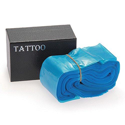 FACILLA® 100pcs Sac Housse Manche Plastique pour Cordon Clip Machine à Tatouer Tatouage