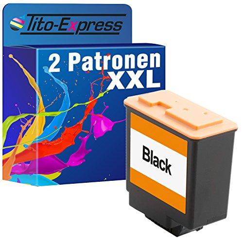 Preisvergleich Produktbild 2x Tinten-Patrone XXL für Philips Faxjet 500 520 525 525IPF 555 PFA-441 PlatinumSerie