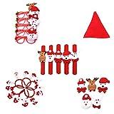 Yeahibaby LED Bofetada Pulseras para Niños de Papá Noel y Muñeco de Nieve Reno para Navidad Cumpleaños Decoracion de Navidad Rojo Anteojos (patrón Aleatorio) 5 Piezas
