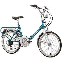 20 'pollici Cinzia Firenze Bicicletta pieghevole 6 marce, blu/bianco …