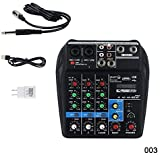 Mcottage Mini USB Audio Mixer Amplificatore Amp Bluetooth Tavola 48V Phantom Alimentazione 4 Canali per Dj Karaoke - 3