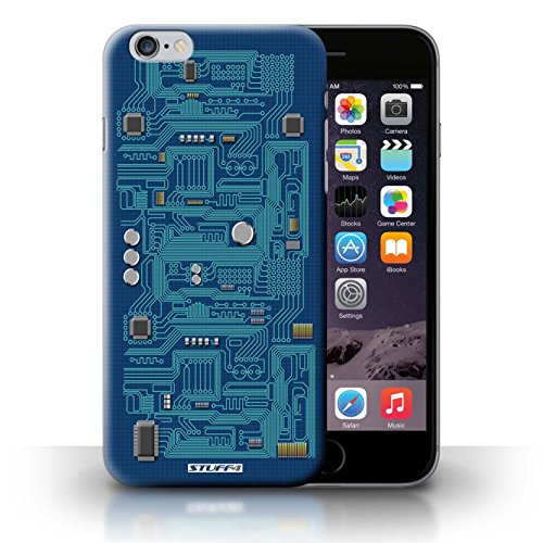 KOBALT® Hülle Case für iPhone 6+/Plus 5.5 | Rot Entwurf | Leiterplatte Kollektion Blau