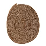 #8: Generic 10M Hessian Burlap Ribbon Jute Hemp Tirms For Wedding Christmas DIY Craft Decoration - 6cm