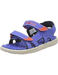 Timberland Perkins Row 2-Strap Bright Blue Synthetic Infant Strap Sandals