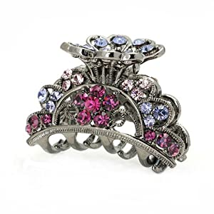 Glamorousky Elegante Haarspange In Rosa Und Lila Austrian Elements -Kristallen (689)