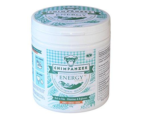 Chimpanzee Quickmix Energy Shake Contenitore da 420g Miele & Cereali & Cacao Alimentazione Turchese Dimensione Standard