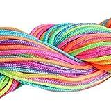 TOOGOO(R) 30 Metres Fil Nylon Cordon bijoux 1 mm pour bracelet perles Shamballa tibetain (Rainbow Couleur)