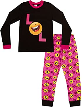 Pijama para niñas con LOL Smiley Laugh Out Loud, estilo emoticón, larga, tallas 9 a15años