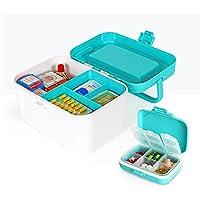 GJ@ + Medizin Box Pill Box Set Familie Medizin Box Dispensing Erste-Hilfe-Box Multifunktions Gesundheit Aufbewahrungsbox... preisvergleich bei billige-tabletten.eu