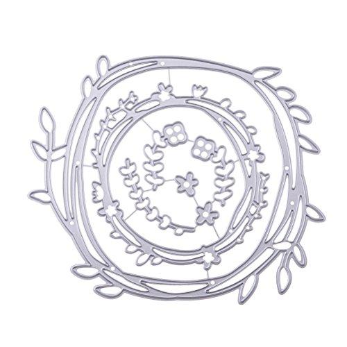 supvox-Kranz Blumen aus Metall Schnitt Matrizen Gabarit Modell Backform für Basteln Papier Kunst Handwerk Album Scrapbooking Papier Karte Décor