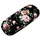 Best Eyeglass Cases - ZZ Sanity Flower Fabric Covered Clam Shell Style Review