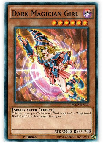 Yu-Gi-Oh.-Dark Magician Girl (ygld-enc10)-Karten legendären Decks-1. Edition-gebräuchlicher von Yu-Gi-Oh. - Yu-gi-oh-karte Magician Dark