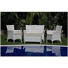 My Garden M0403-08 Ascott Salottino Set Sofa Giardino, 107x62x85 cm, Bianco