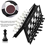 Storio Folding Smooth Surface Magnetic Chess Board Black and White Set Magnetic Indoor Games Size 10 Inch