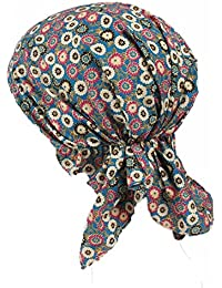 ZYCC Unisexe Foulard Bonnet Bandana Coton Imprimé Turban pour Cancer, Chimie, Perte de Cheveux
