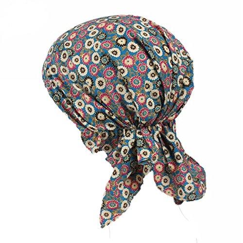 ZYCC Unisex Bandana Hut Baumwolle Gedruckt Turban Kopfbedeckung für Krebs, Chemo, Haarausfall (Farbe 3) (Unisex Kopfbedeckung)