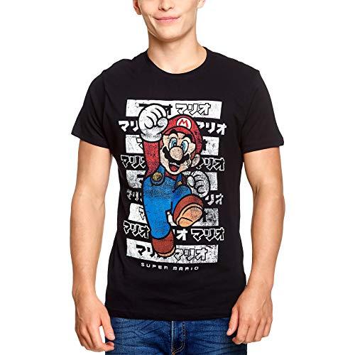 Camiseta Super Mario para hombre Kanto Nintendo Cotton black - M