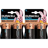 Duracell Ultra, lot de 4 piles alcalines type D 1,5 Volts, LR20 MN1300