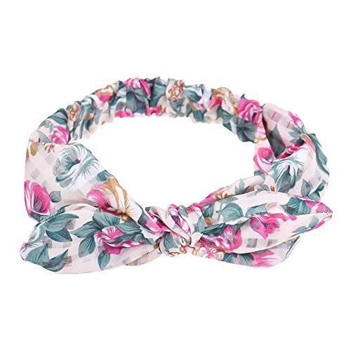 3fb83e9e0e38 Vovotrade La mujer Yoga elástico arco diadema turbante Anudado Rabbit Hair  Band Headband (Beige)