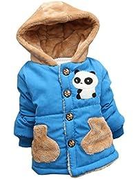 WeiYun Baby Toddler Boys Girls Autumn Winter Panda Pattern Hooded Coat  Cloak Thick Warm Clothes ( eda372bdbc50