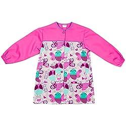 Dyneke Bata escolar botón rosa Papillons (Talla 1)