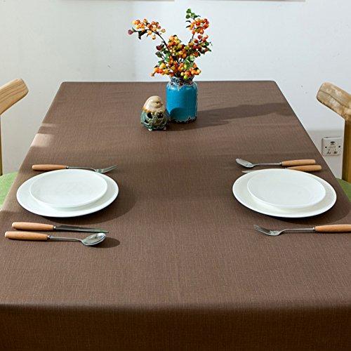 Kitnerkned impermeabile anti-scottatura antiolio rettangolo quadrato in plastica pvc tovaglia,no lavaggio cucina sala da pranzo tovaglia in forma partito per banchetti-marrone k 140x200cm(55x79inch)