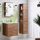 Badmöbel Set 'Marisa 60' Badezimmerschrank 4 tlg Waschbecken Waschtisch Spiegelschrank