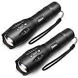 Elekin LED Taschenlampe, Taktische Taschenlampe Extrem Hell, IP65 Wasserdicht, 5 Leuchtmodi, Tragbare Flashlight fürs für Camping Outdoor Wand - 2 Stück
